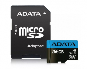 UHS-I MicroSDXC 256GB class 10 + adapter AUSDX256GUICL10A1-RA1